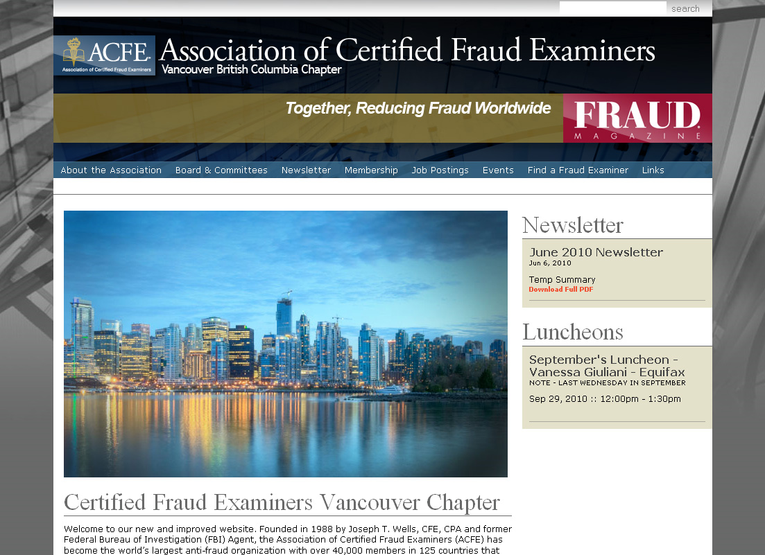 ACFE Vancouver Chapter website