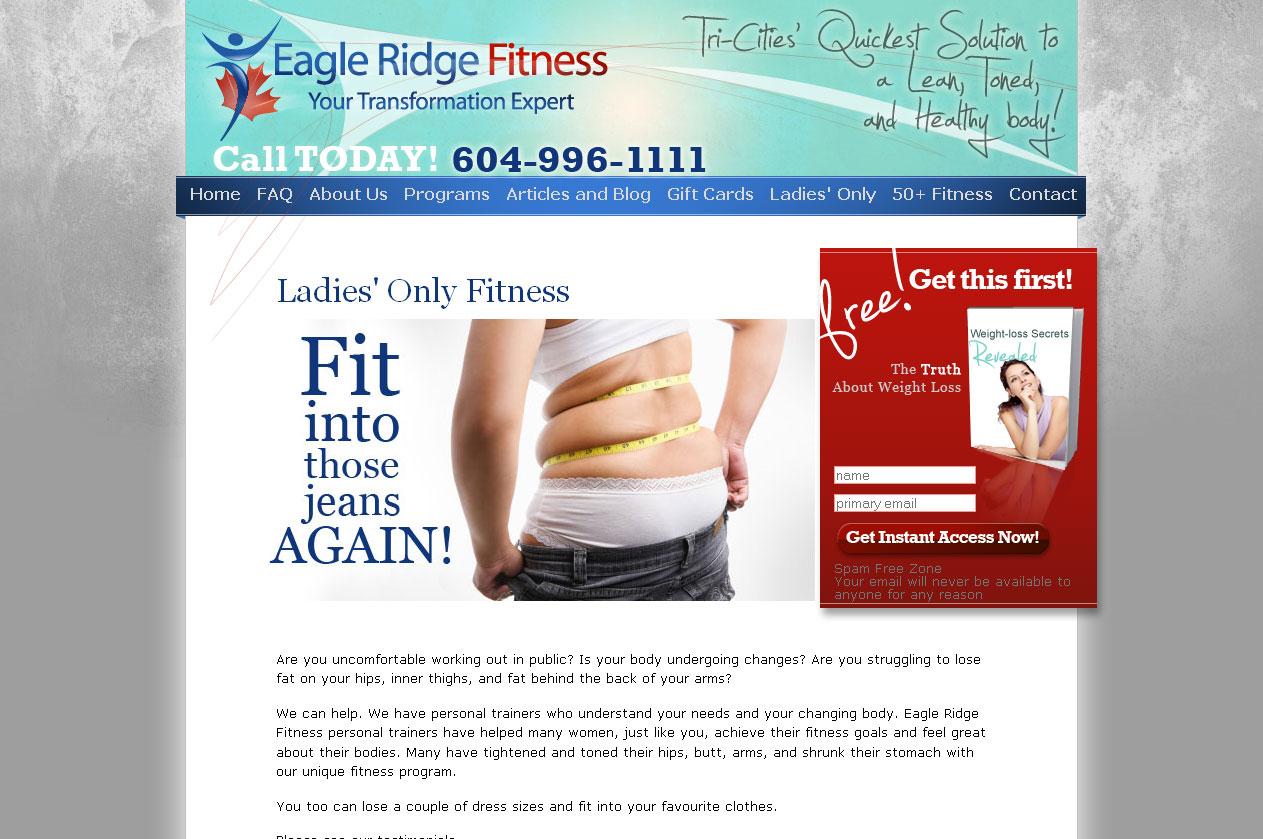 Eagle Ridge Fitnes website