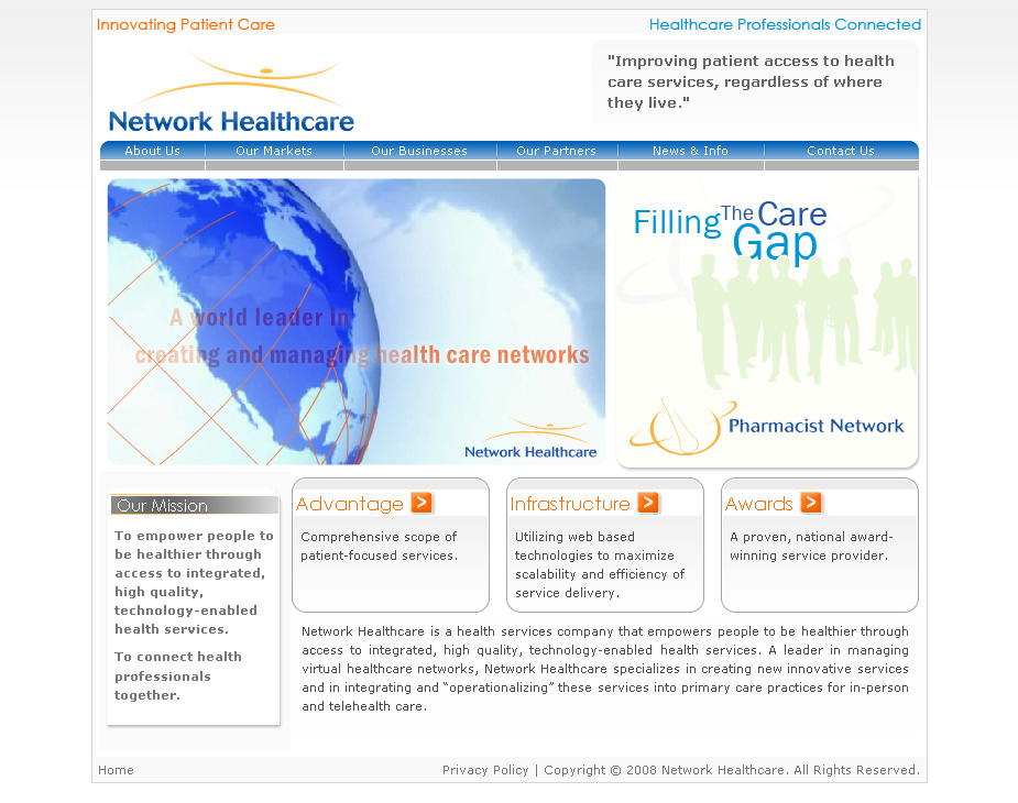 Network Healthcare website