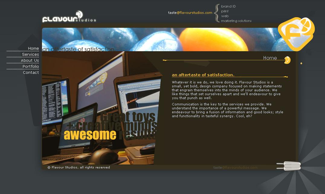 Flavour Studios website