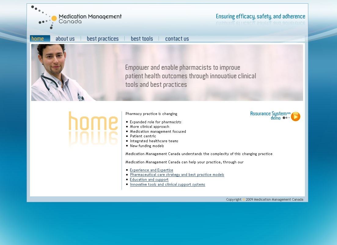 Medication Management Canada website screenshot