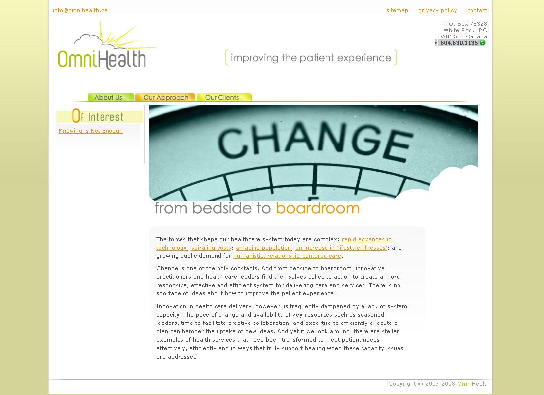 Omnihealth website screenshot