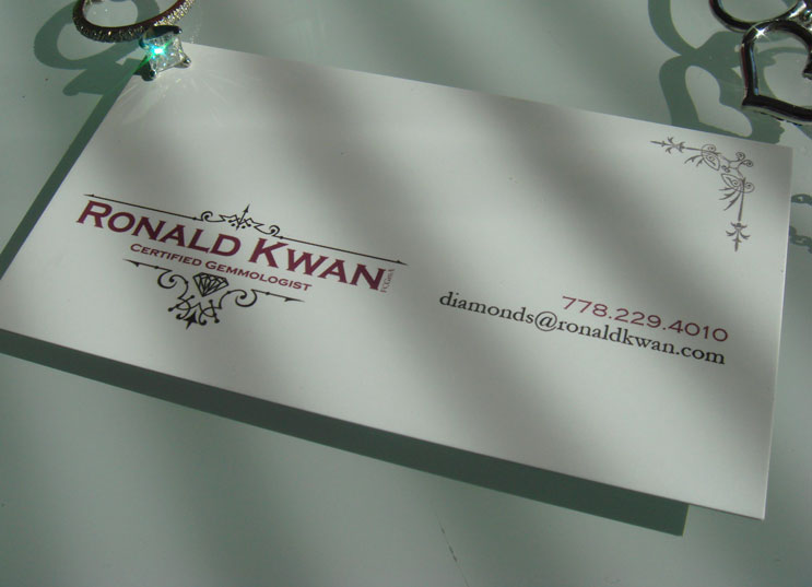Jeweller Business Card Front