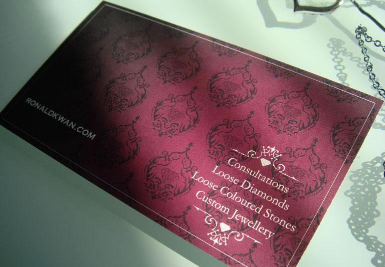 Ronald Kwan's Business Card design Back